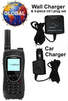 Iridium 9555 satellite phone rental kit