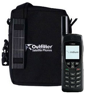 Iridium 9555 satellite phone shown soft case (included FREE)